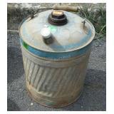 Galvanized 5 gallon Fuel Can, small cap replaced