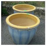 """Two 12"""" Pottery Flower Pots"""