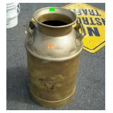Milk Can, gold color painted, No Lid