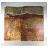 Overture I and II prints on canvas by Maeve