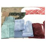 Bath mats and scatter rugs, several sets here