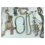 Costume necklace and bracelets