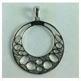 Open Silverwork Pendant, Sterling Silver, 2.1