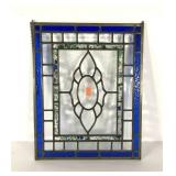 Leaded glass sun catcher panel, 16x20, couple of