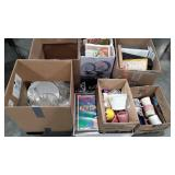Skid lot, ephemera,  glassware, books, records,