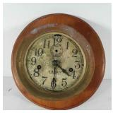 US Navy deck clock, brass and wood, seller code