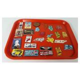 Advertising magnets and state magnets, includes