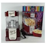 Nostalgia electrics popcorn maker with box,