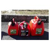 3 Gas Containers, 1.25& 2.5 gallon sizes