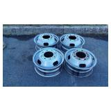 Set of 4 Ford Dually Truck Rims, 8 lugs,