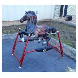 Flexible Flyer Hobby Horse, nice black horse in