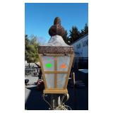 "Lighted Pole light Decorative light, 74"" tall"