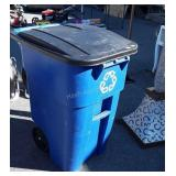 Rubbermaid Wheeled Trash Container, 50 gallon,