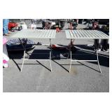 2 aluminum Folding Outdoor Camping type tables,