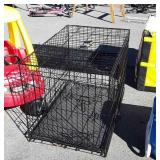 Wire Pet Kennel, includes clean out tray, 2 door