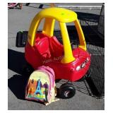 Little Tikes Buggy Ride on Toy Car, backpack with
