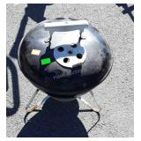 "Weber portable 12"" charcoal grill, used just"
