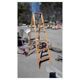 Werner 6ft Wooden Step Ladder, USA Made, seller