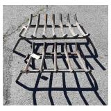Two Heavy Steel Fire Place Wood Grates, 16&20""