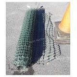 34ft Roll of green poly Safety type fence