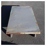 "Metal Warehouse Platform Cart 32x66"", one end"