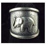 Size 6 Sterling silver elephant ring