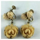 Screwback  floral earrings