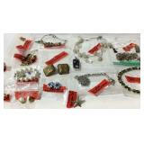 Costume jewelry, necklaces, earrings, brooch, etc