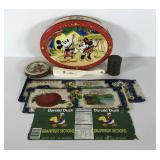 Advertising,  fruit labels, snuff tin, Disney tin