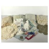 Tablecloths, doilies, hankies, tabletoppers, some