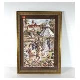 Wedding at the Gazebo print, framed and matted,