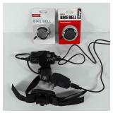 Bicycle accessories, includes bike bells, light