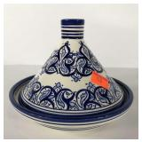 Moroccan serving tagine, 8x8