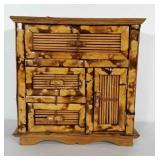 Burnt Bamboo jewelry chest with 3 drawers and