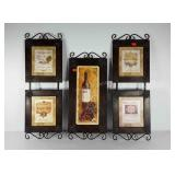 Metalworks wine themed wall hangings, smaller one