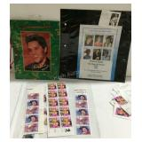 Elvis and Patsy Cline stamps used and unused face