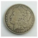 1884 O Morgan Dollar