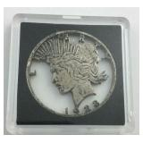 1923 Peace Dollar Pendant Very Unique Piece