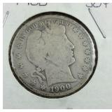 1900 Barber Half Dollar From Estate