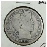 1911 Barber Half Dollar