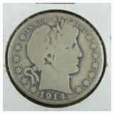 1914-S Barber Half Dollar From Estate