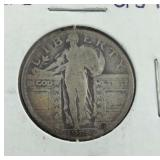 1925 Standing Liberty Quarter From Estate