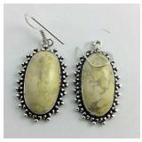 Oval howlite earrings