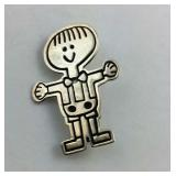 "Sterling silver pin ""save the children"""
