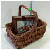 Home decor basket & still life print - 11 x 9