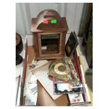 Clock parts - housing, faces, pendulum, glass
