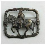 Sterling silver knight on horseback pin