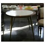 Formica top kitchen table with metal legs - 36""