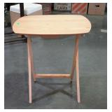One TV tray table with light finish - code MQ