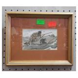 Nicely framed and matted small print depicting